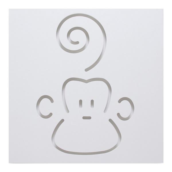 Marcel The Monkey Wall Decor - White