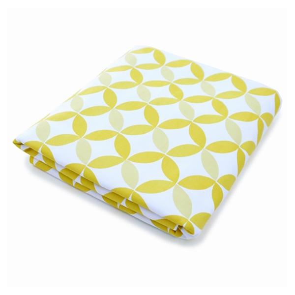Tops Organic Fitted Crib Sheet (Grey)