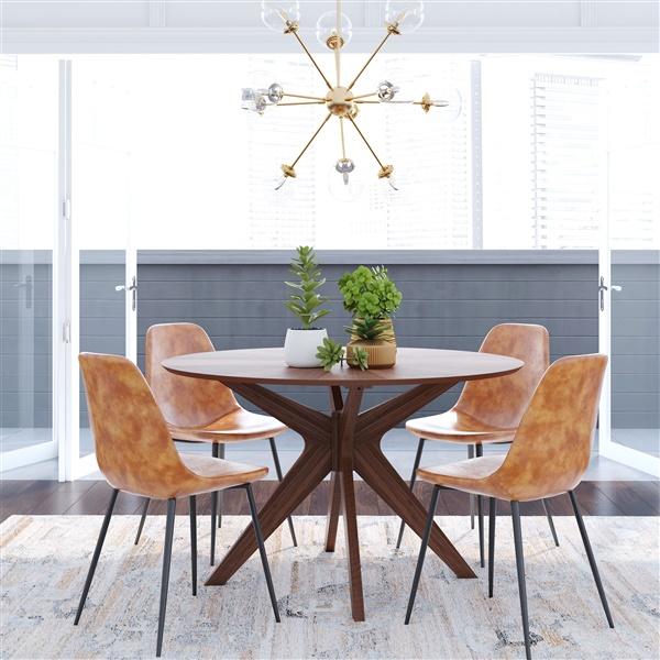 Starburst Round Dining Table (Natural Oak)