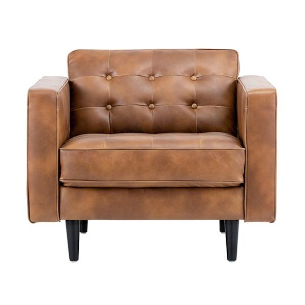 5West Donnie Armchair (Havana Dark Brown)
