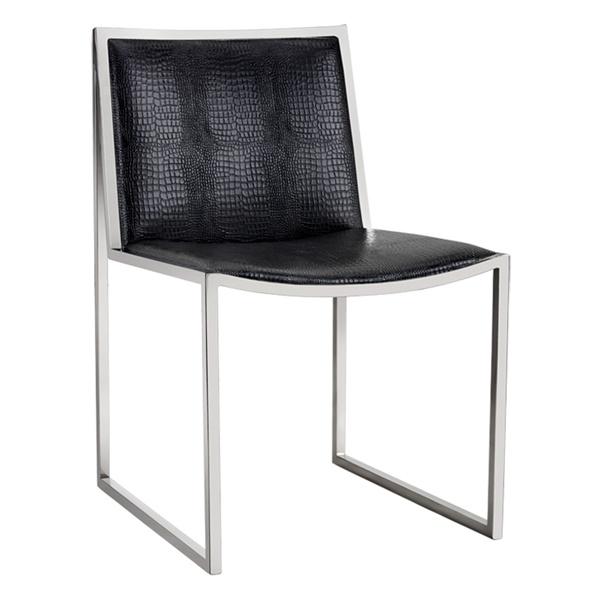 Blair Dining Chair (Black Croc)