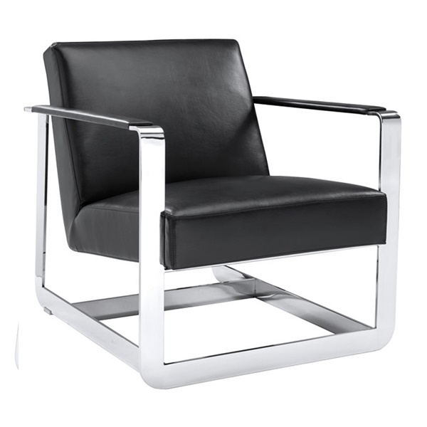 Clevelander Armchair (Black Leather)