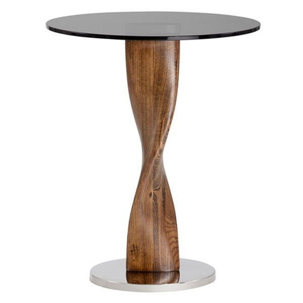 Ikon Isla Side Table (Antique Gold)