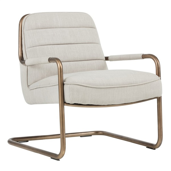 Irongate Lincoln Lounge Chair (Beige Linen)