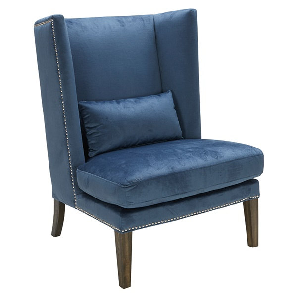 Malibu Wing Chair (Blue Ink Fabric)