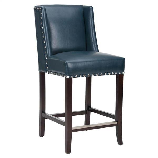 Marlin Counter Stool (Blue Leather)
