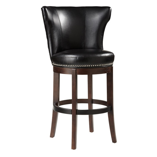Tavern Swivel Barstool (Black)