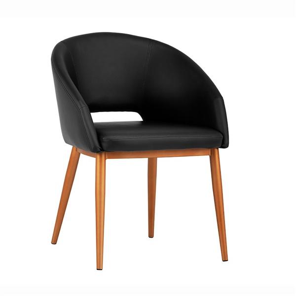 Thatcher Dining Chair (Onyx / Antique Brass)