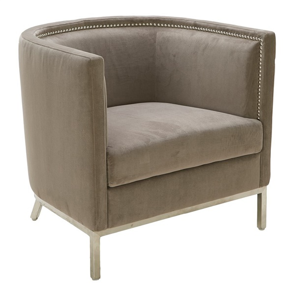Wales Arm Chair (Portsmouth Gray Fabric)