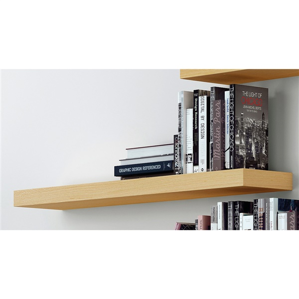 "Balda 35"" Hanging Wall Shelf (Pure White)"