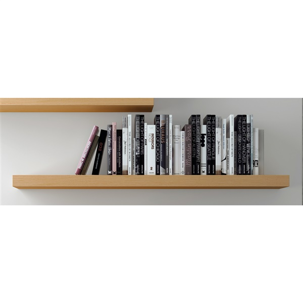"Balda 47"" Hanging Wall Shelf (Pure White)"