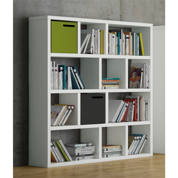 "Berlin 4 Levels 59"" Shelving Units (Pure White)"