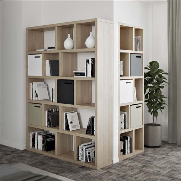 "Berlin 5 Levels 59"" Shelving Units (Pure White)"