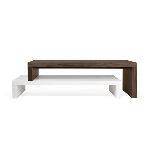 Cliff 120 TV Bench (Pure White)