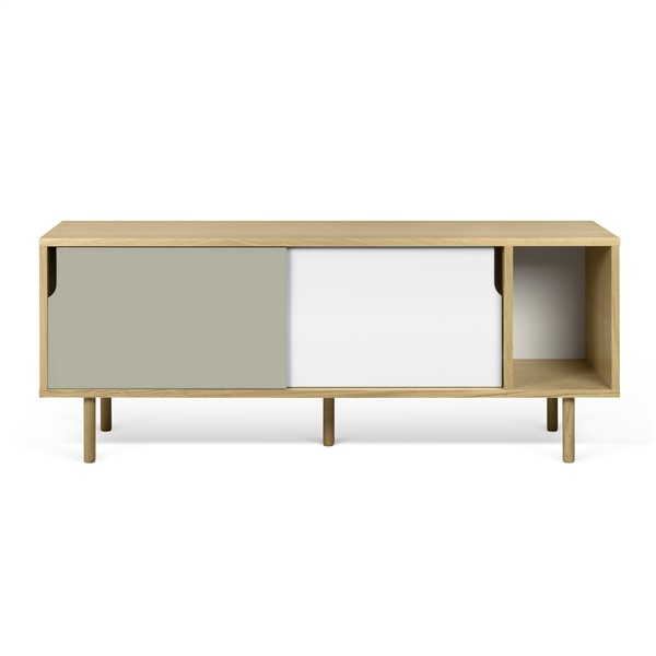 Dann Sideboard - Oak/Pure White/Matte Gray