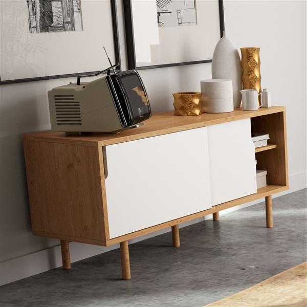 Dann TV Table (Oak/Pure White)
