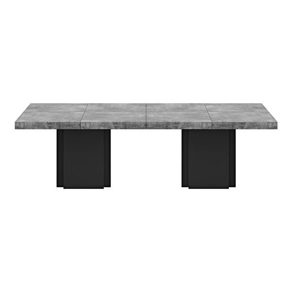 Dusk 2 Tables (Set of 2) (Concrete/Pure Black)