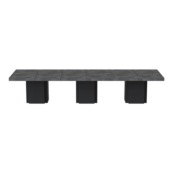Dusk 3 Tables (Set of 3) (Concrete/Pure Black)