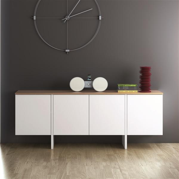 Edge Sideboard (Pure White/Oak)