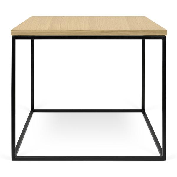 Gleam Side Table - Wild Oak/Black