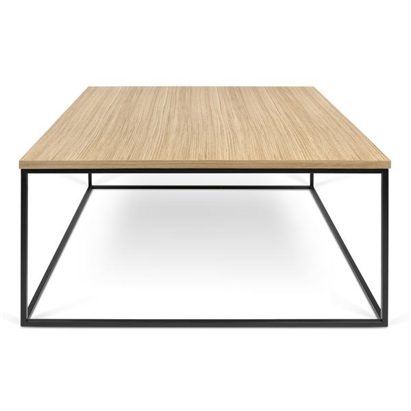 Gleam Square Coffee Table - Wild Oak/Black