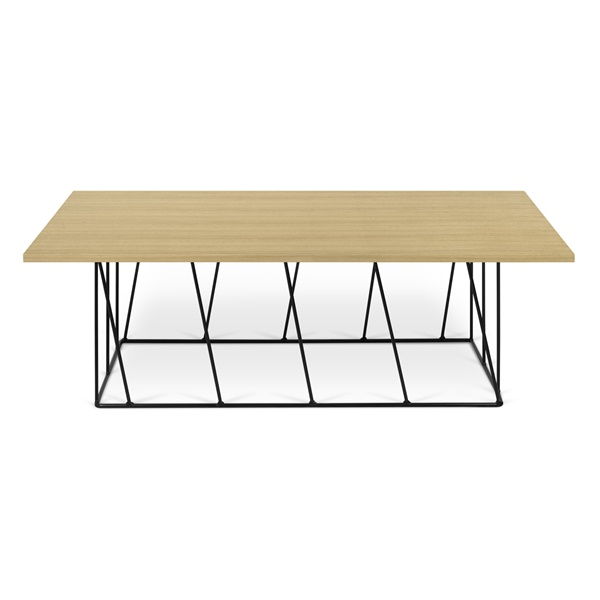 Helix Rectangular Coffee Table - Rusty Look/Black