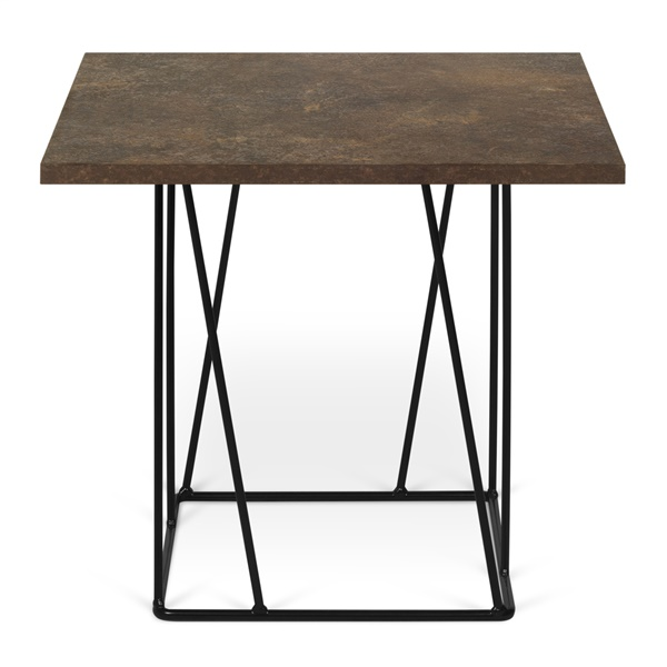 Helix Side Table - Rusty Look/Black