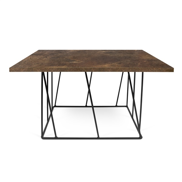 Helix Square Coffee Table - Pure White/Black