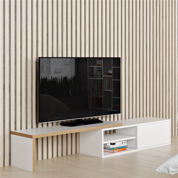 Move TV Table (Pure White/Plywood)