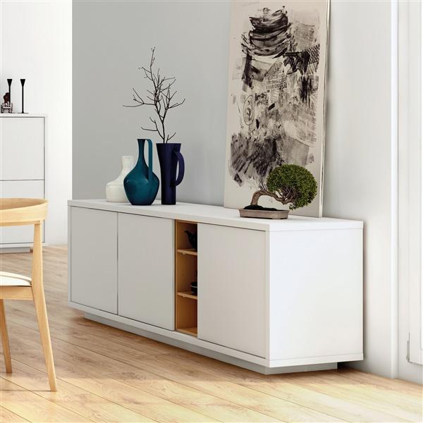 Niche Sideboard (Pure White/Oak)