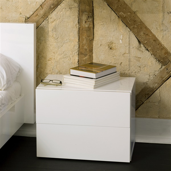 Aurora Nightstand (Pure White)