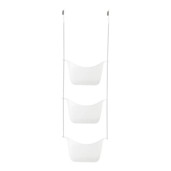 Bask Shower Caddy - White/Nickel