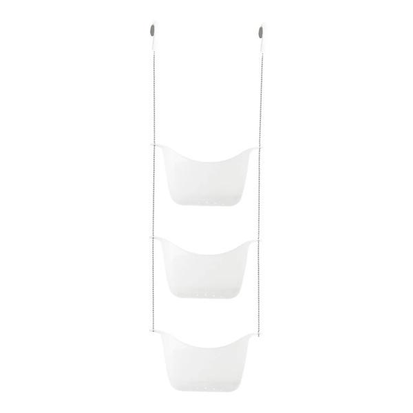 Bask Shower Caddy - White/Nickel