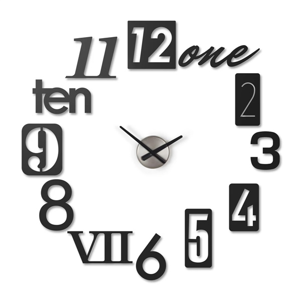 Numbra Wall Clock (Aluminum)