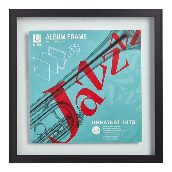 "Record 12"" x 12"" Frame - Black"