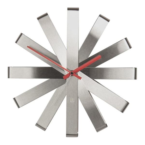 Ribbon Clock - Steel