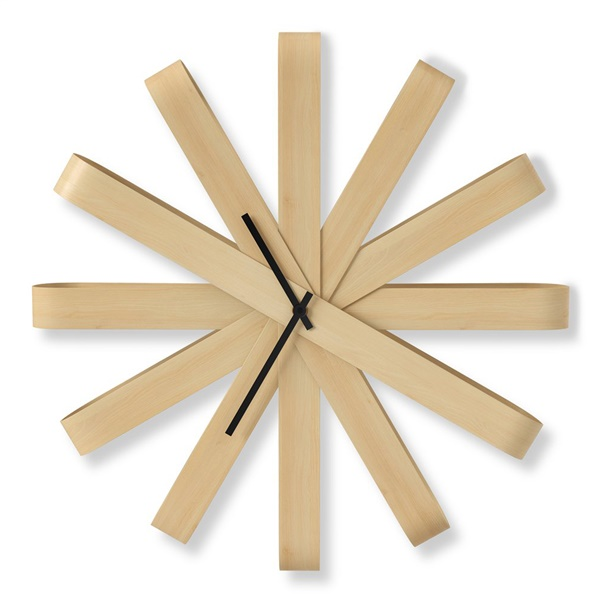 Ribbonwood Wall Clock - Natural