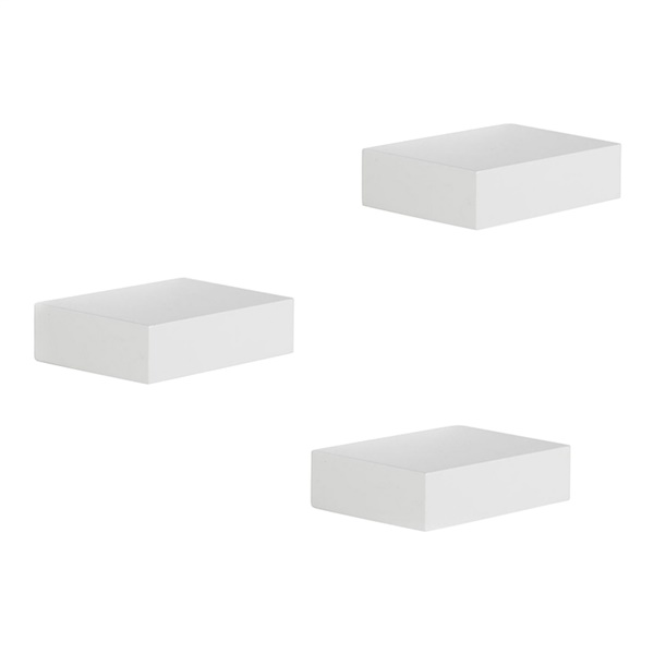 Showcase Shelves - White (Set of 3)