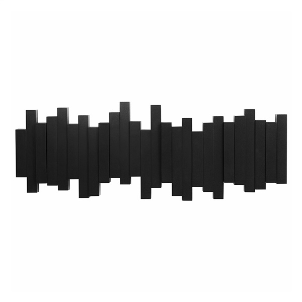 Sticks Wall-Mount Multi-Hook (Black)