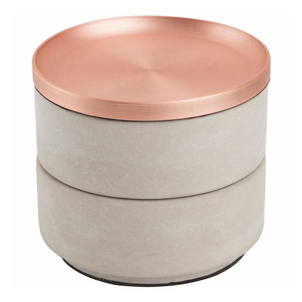 Tesora Box - Concrete/Copper