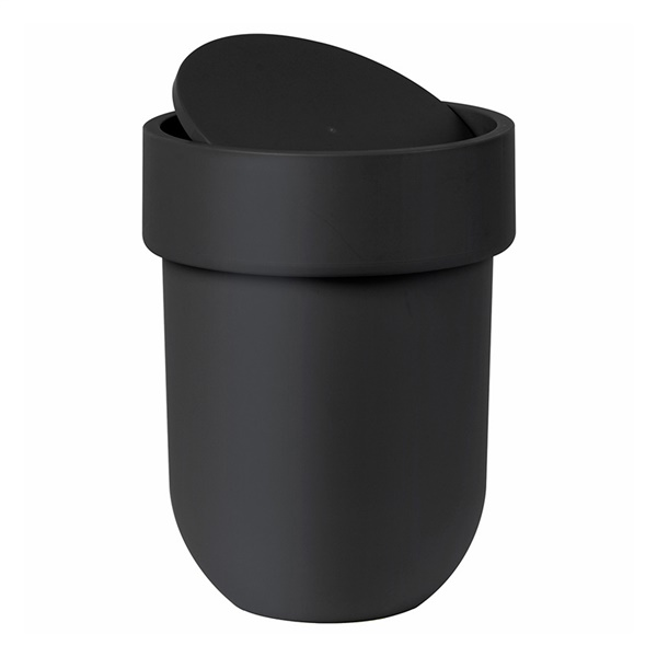 Touch Waste Can with Lid (Black)