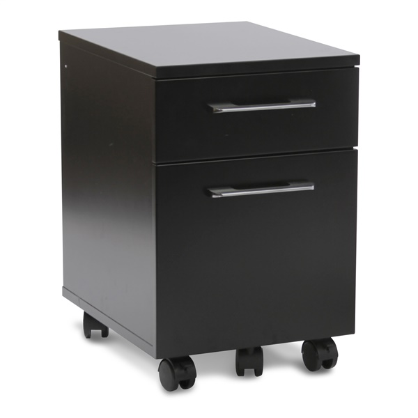 200 Series 2-Drawer Mobile File Cabinet (Black)