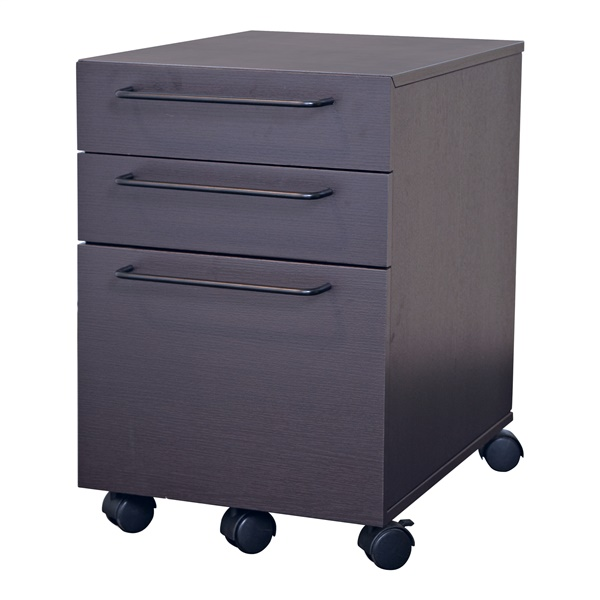 200 Series 3-Drawer Mobile File Cabinet (Espresso)