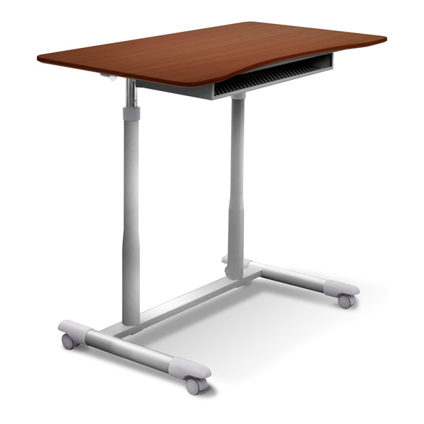 200 Series Stand Up Desk Adjustable and Mobile (Cherry)