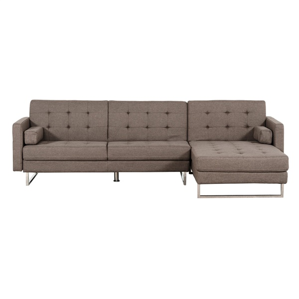 Divani Casa Smith Modern Brown Fabric Sectional Sofa