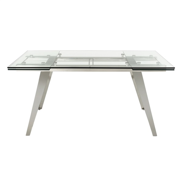 Modrest Barium Modern Extendable Glass Dining Table