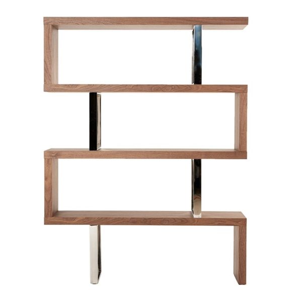 Modrest Maze Modern Bookcase (Walnut)