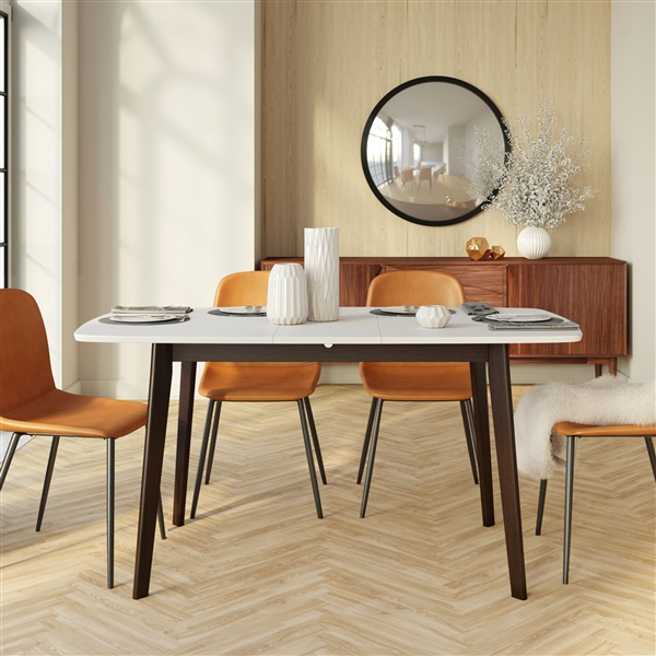 Vilhelm Extendable Dining Table with White Top