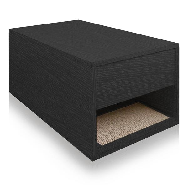 Way Basics Eco Friendly Cat Litter Sidetable (Black)