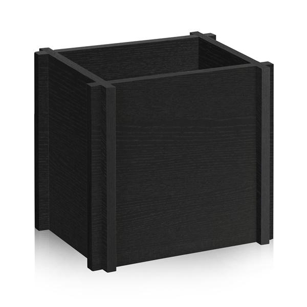 Way Basics Eco Friendly Grocery Paper Bag Holder (Black)